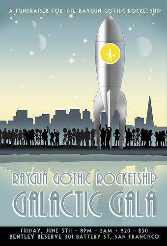 Raygun Gothic Rocketship Galactic Gala poster